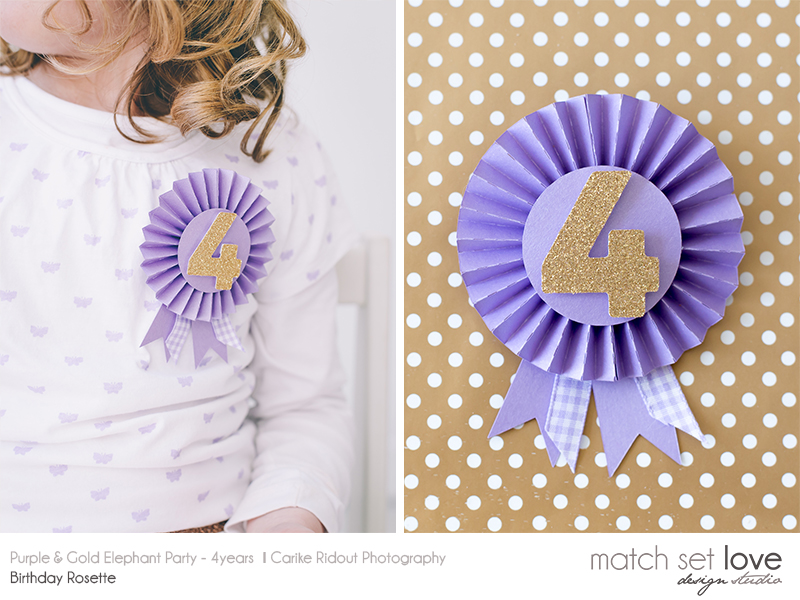Purple and Gold Elephant Party 1