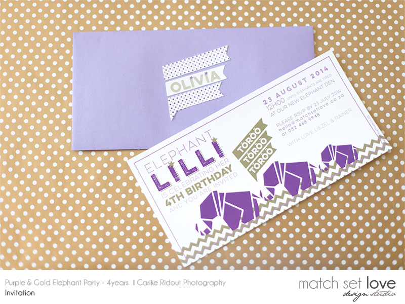 Purple and Gold Elephant party 000