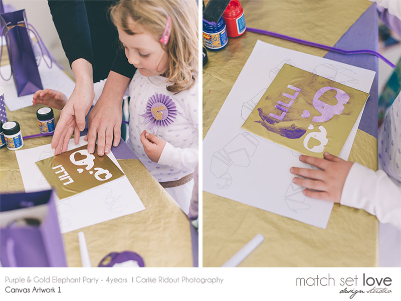 Purple and Gold Elephant party 14