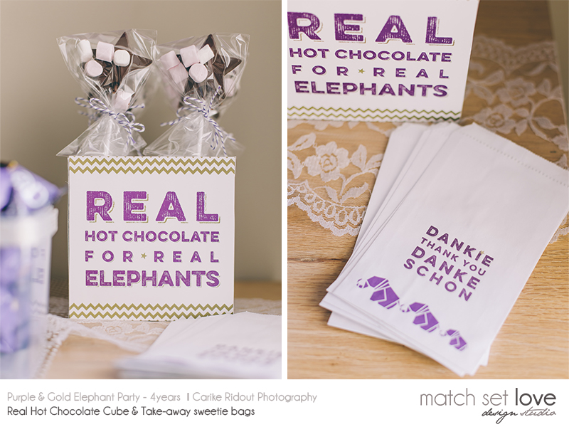 Purple and Gold Elephant party 8