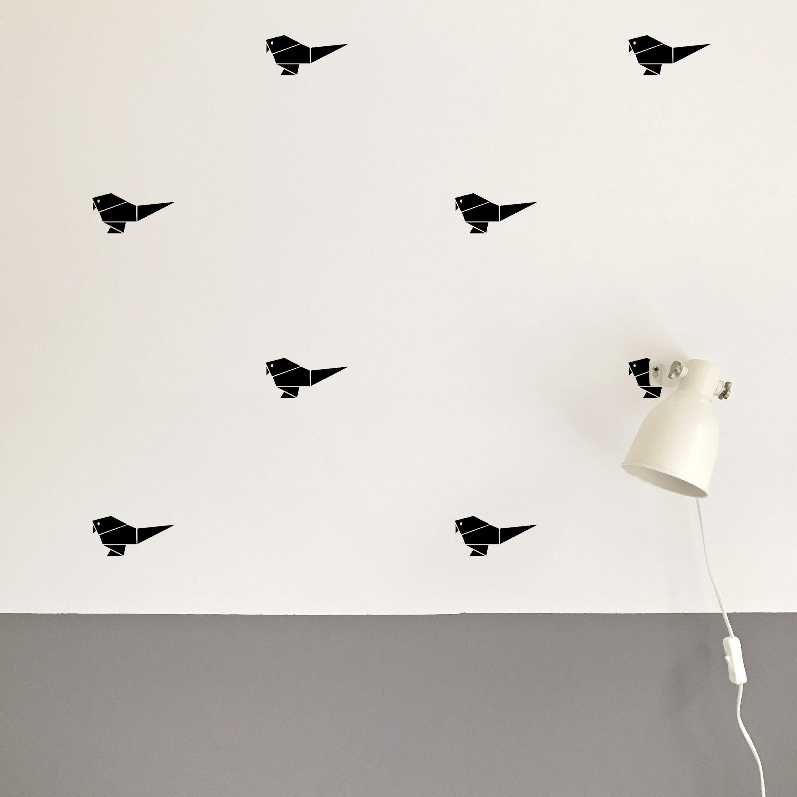 Origami Bird Black