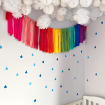raindrop wall decals