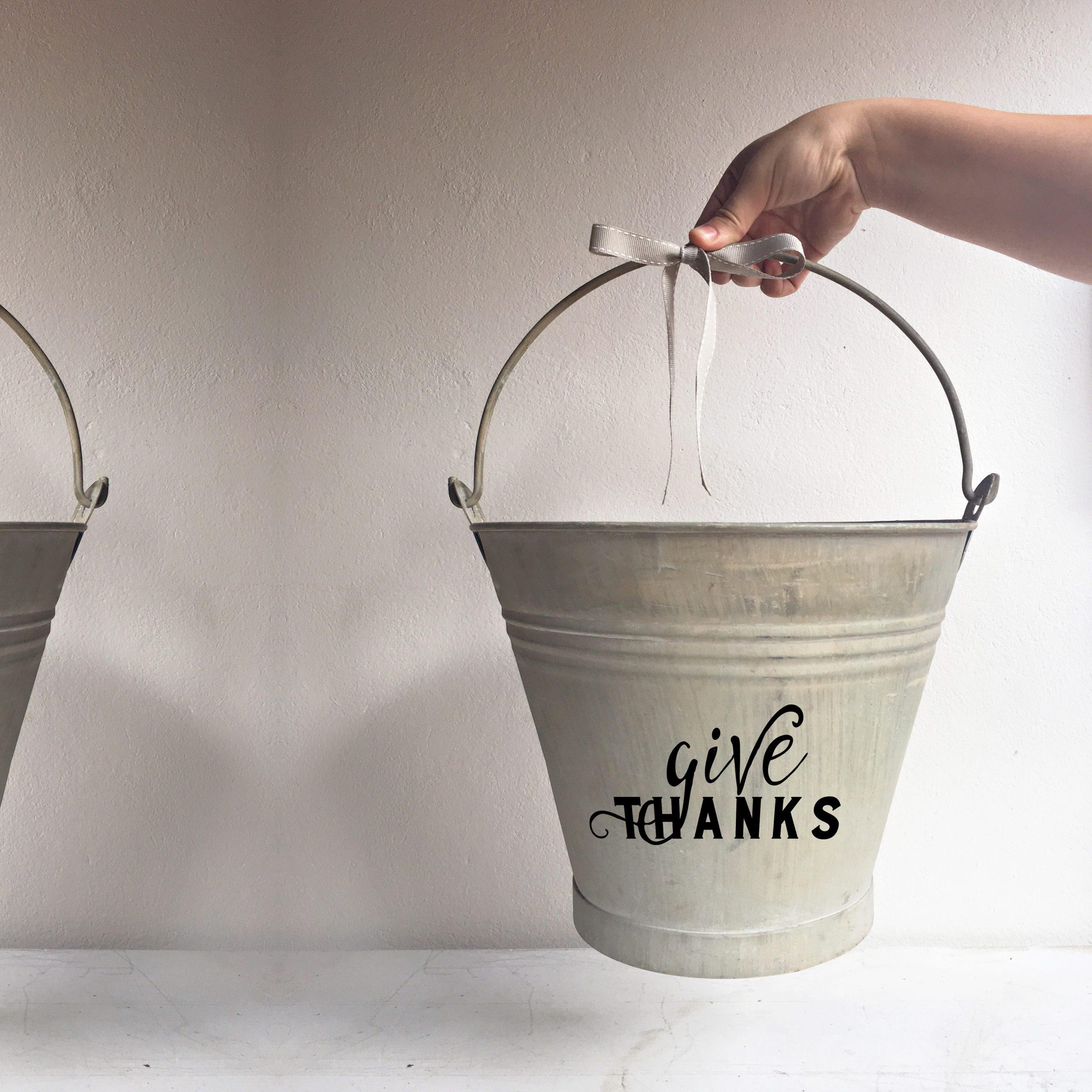 Bucket Give Thanks