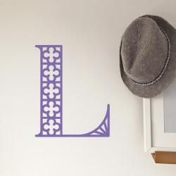 Hat Wall Intricate Inital L lavender