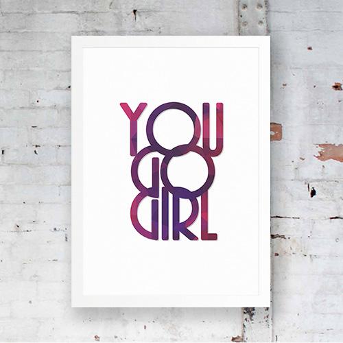 Poster You go girl violet 1
