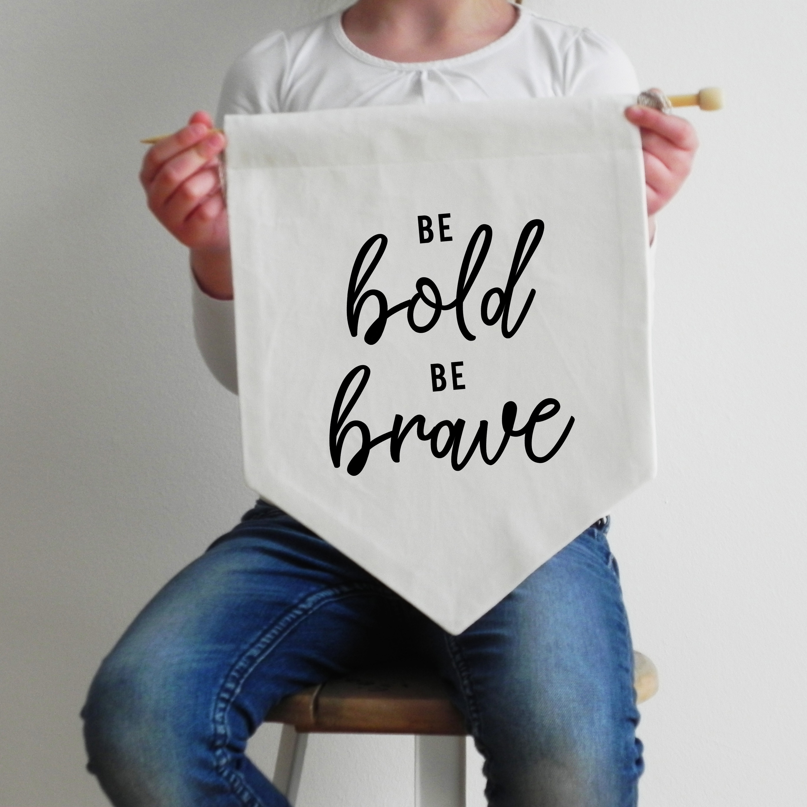 Wall Flag be bold be brave