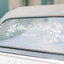 Custom Window Sticker - Personalized Wedding Car Decals