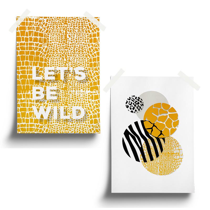 Poster set 1 mustard