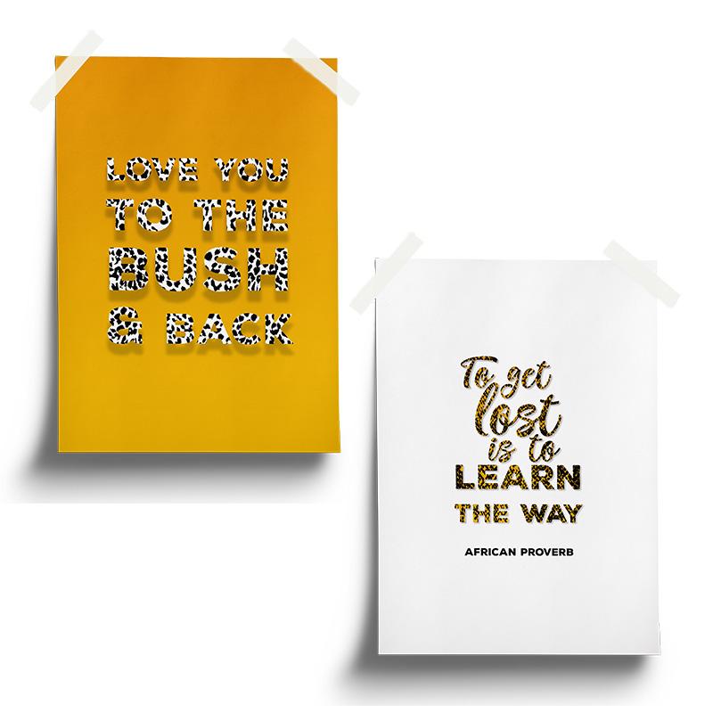 Poster set 2 mustard