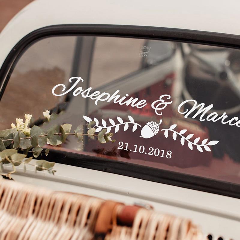 LR Wedding Car Sticker Option 7 1