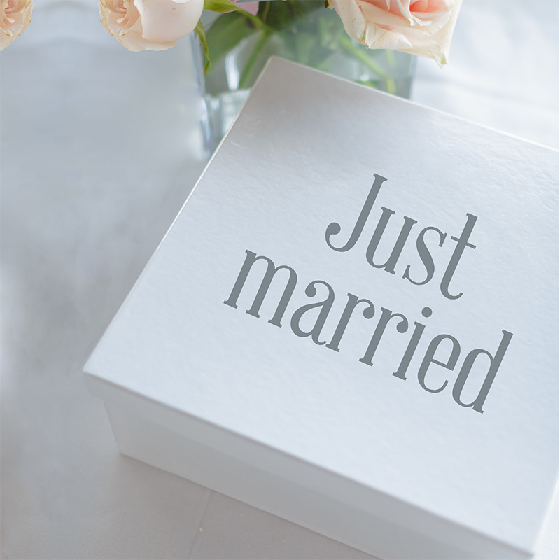 LR Wedding Gift Box font 3 just married