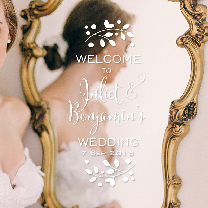 LR wedding welcome decal 3 1