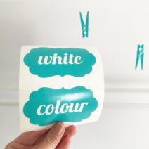 Washing Powder Laundry Stickers