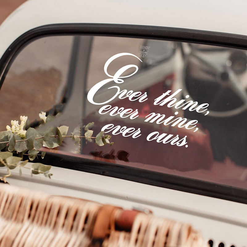 LR Ever thine wedding car sticker