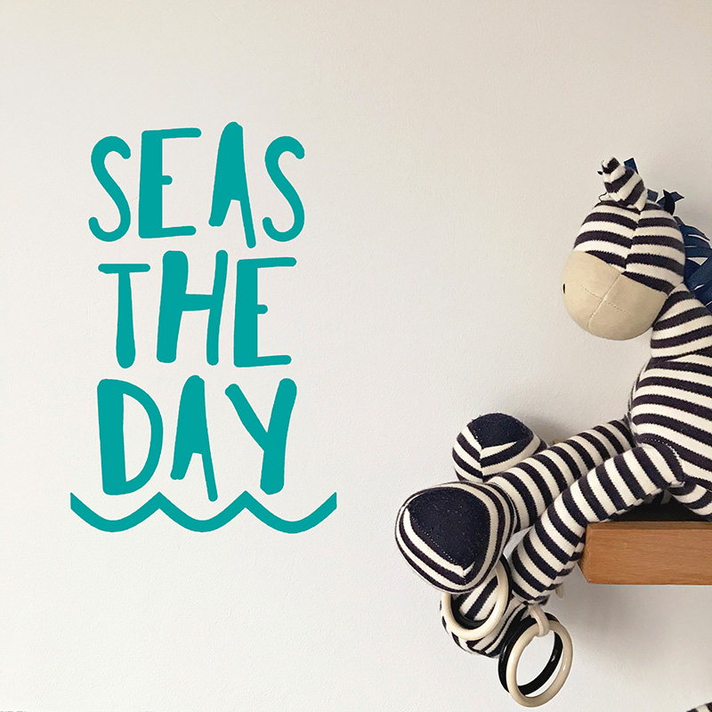 LR Seas the Day Decal Turquoise