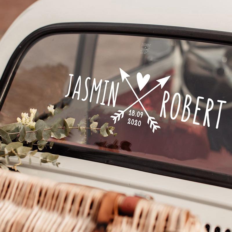 Arrow wedding car decal 1