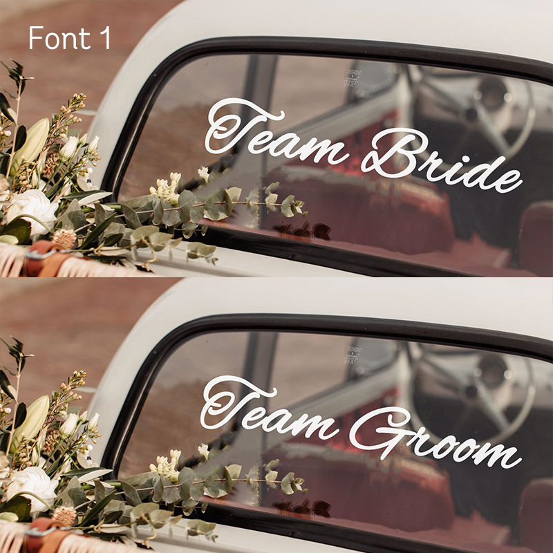 Team Bride Team Groom Font 1